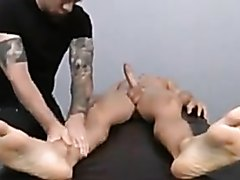 Daddy gets a sensual massage and oral