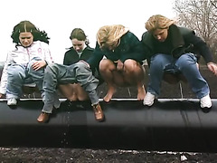 Four Girls On A Pipe
