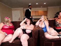 BBW orgy with a lucky BBC