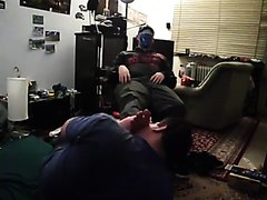 Wicked Footmaster 21 y. punish his workslave with smelly Feet size 45.