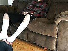 Sexy skater master with slave - video 2
