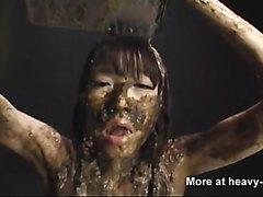 Extreme scat BDSM torture feeding - video 2