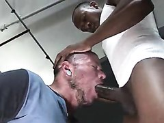 THROATING ON A BLACK MONSTER