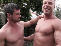 Muscle jock gets pounded