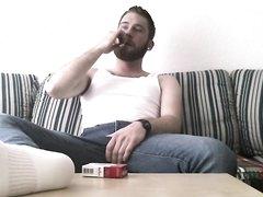 Smoking Cutie Inhales Deep