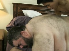 The young guy fucked chub hard