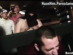 Straight chub fuck a men on public
