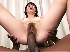 Hairy MILF loves big black cocks