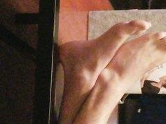 candid boy feet