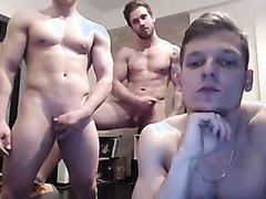 Now three gorgeous 'straight' guys fooling around
