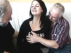Five old Russians sharing one whore