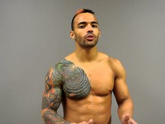 Muscle stud Ricochet KO'd  by triple brainbuster