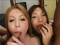 Guys make love to beautiful Japanese shemales