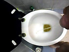 piss at toilet - video 2