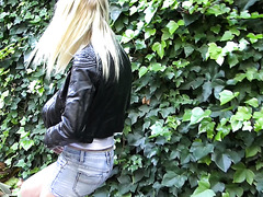 sweet young blonde has to pee
