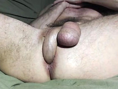 Guy shoves his cock in his own ass
