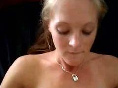 Blonde gets a facial cumshot after a fuck