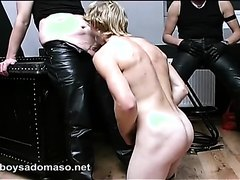 Perfect young blond slave afraid and used
