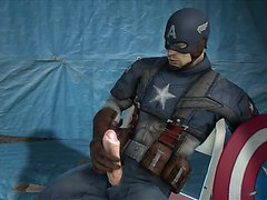 Captain America hung animation