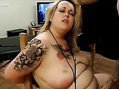 BBW gets slapped and facefucked