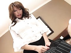 Hard office sex along naughty Japan hottie, Aya Sakuraba