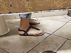 Women caught peeing and farting in the WC