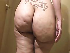 Nasty big ass slut uses her husband instead of toilet paper