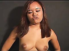 Wild Asian slut in a bisexual threesome