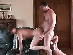 Two guys and a milf doing each other