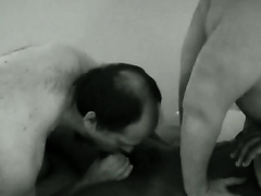 Mature bisexuals in hardcore threesome action