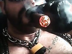 ALPHA MALE CIGAR SMOKER LEATHER SKULLFUCKING