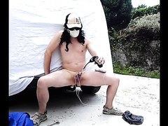 3 pleasures : hook hitch anal ,electro cock ,urethra screwdriver outdoor