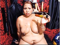 Another Mature Latina Puking on Webcam