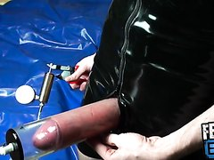 SOCK SNIFFING TWINK IN RUBBER SUIT PUMPS DICK