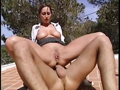 Hot Brunette Fuck And Piss On Horny Guy