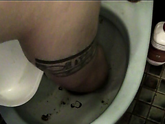 Cleaning Dirty Men's toilet