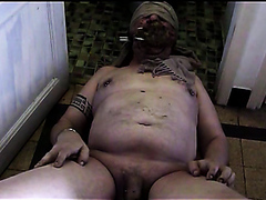 Gay French Pig Cleaning Men's Toilet And eat The Shit