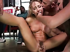 Pornstars get dominated publicly like sluts