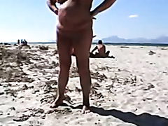 Nude fat chick on the beach