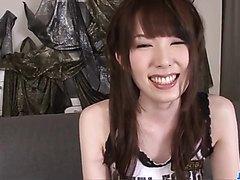 BustyRamu Nagatsuki screams during finger fuck show