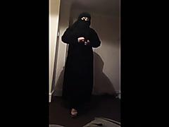 Arabic wife gives her husband a handjob