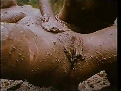 Incredibly sexy explicit lesbian mud-sex
