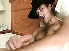Sexy Cowboy Smokes a Marlboro, Busts a Nut