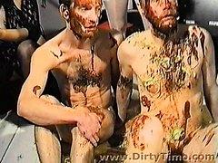 Nasty Bitch mistress dominates 2 men part 2. nasty food