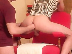 Young guys with hot ass gets double fisted