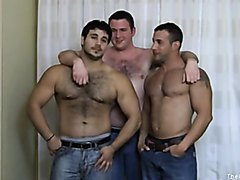 3 hot muscle guys having fun