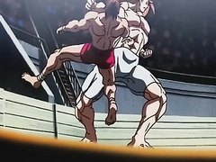Wrestler Fight Scene