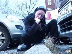 Vomit in parking lot