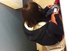 School girl spied in toilet