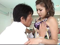 Mai Kuroki screams while getting pumped hard  - More at j....net